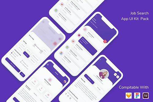 Job Search App UI Kit Pack
