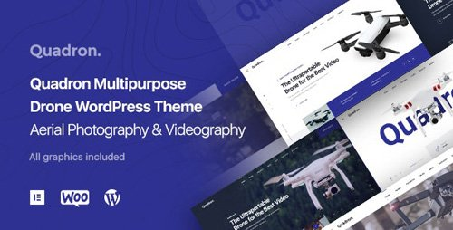 ThemeForest - Aerial Photography & Videography Drone WordPress Theme - Quadron v1.0.2 - 25275704