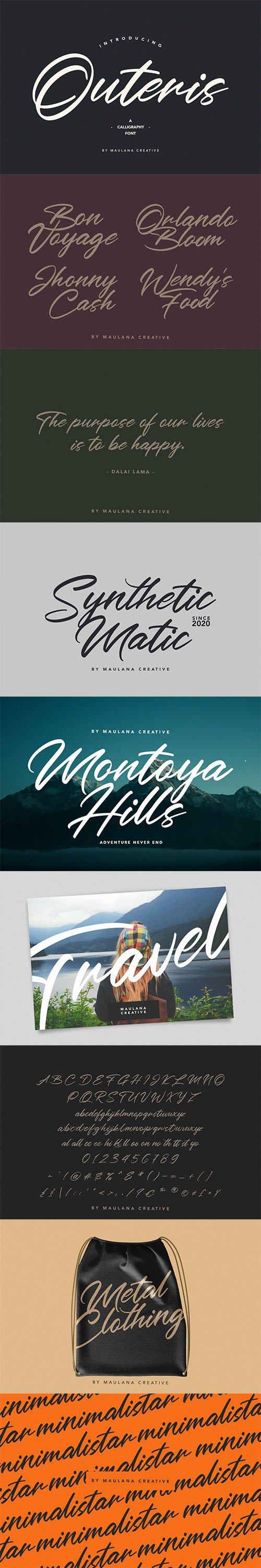 Outeris Calligraphy Font
