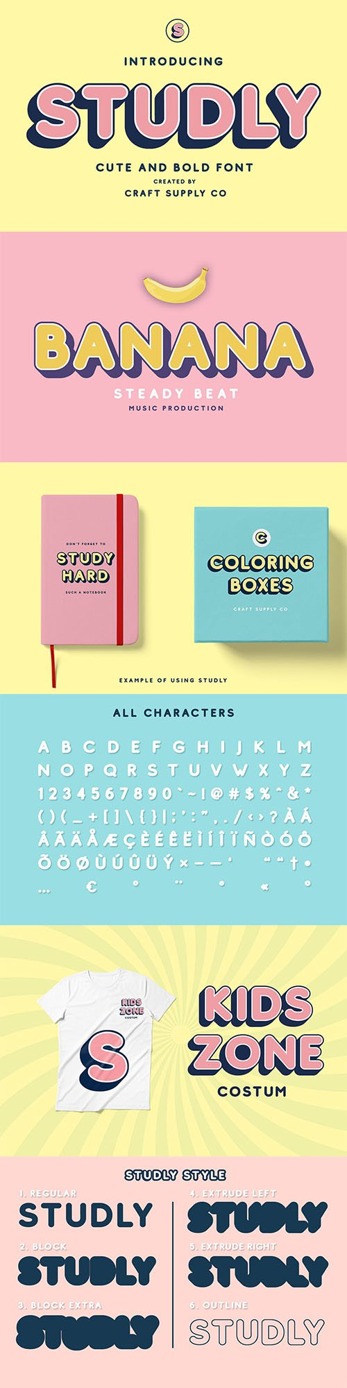 Studly - Layered Font Family