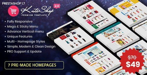 ThemeForest - KuteShop v2.0 - Fashion, Electronics & Marketplace Prestashop 1.7 Theme (RTL Supported) - 26687644