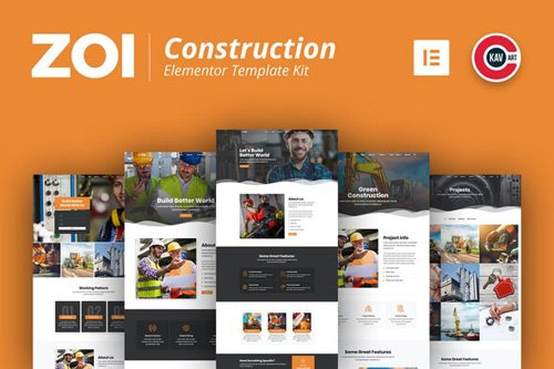 ThemeForest - ZOI v1.0 - Construction Template Kit - 26757271