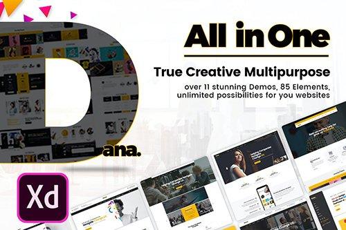 Dana - Ultimate Multi-Purpose Business XD Template