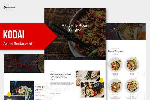 ThemeForest - Kodai v1.0 - Asian Restaurant Elementor Template Kit - 26743314