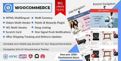 CodeCanyon - Ionic5 Woocommerce v3.0.5.1 - Ionic5/Angular8 Universal Full Mobile App for iOS & Android / Wordpress Plugins - 21561737 - NULLED