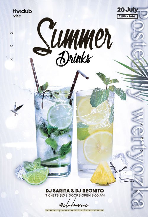 Drink Event Invitation - Premium flyer psd template