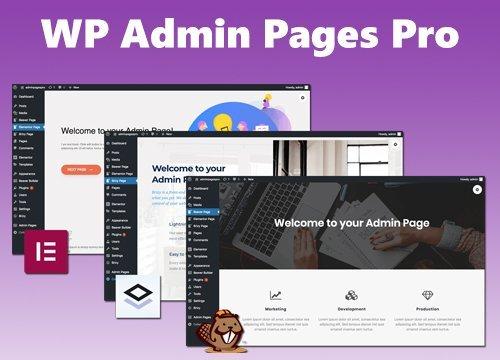WP Admin Pages Pro v1.8.0 - WordPress Plugin