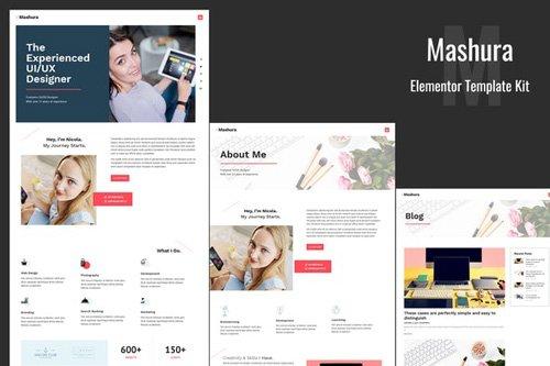 ThemeForest - Mashura v1.0 - Portfolio Elementor Template Kit (Update: 26 May 20) - 26417220