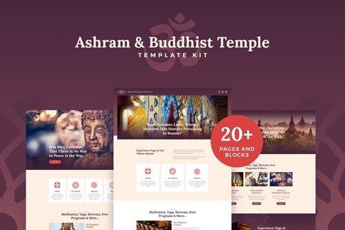 ThemeForest - Vihara v1.0 - Ashram & Oriental Buddhist Temple Elementor Template Kit (Update: 26 May 20) - 26397789