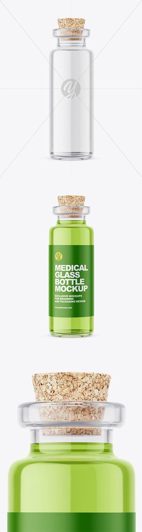 Glass Medical Bottle with Cork Mockup 57958 TIF