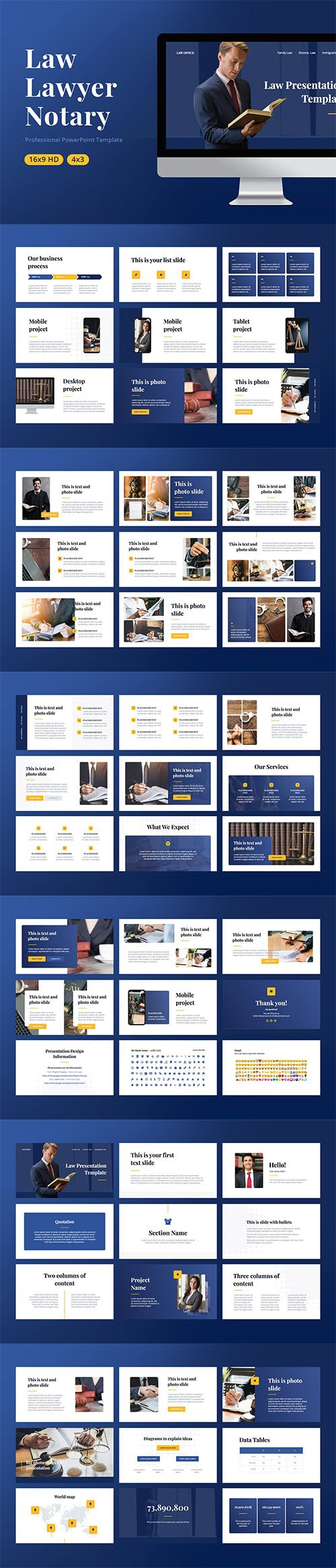 Law PowerPoint, Keynote, Google Slides Templates