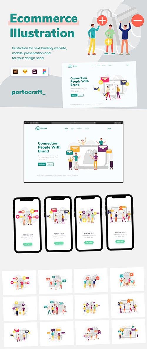 Ecommerce Illustration Startup Vol.1