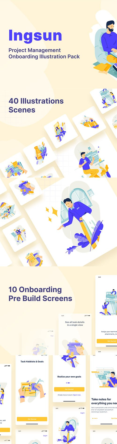 Ingsun : Project Management Onboarding Illustrations Pack