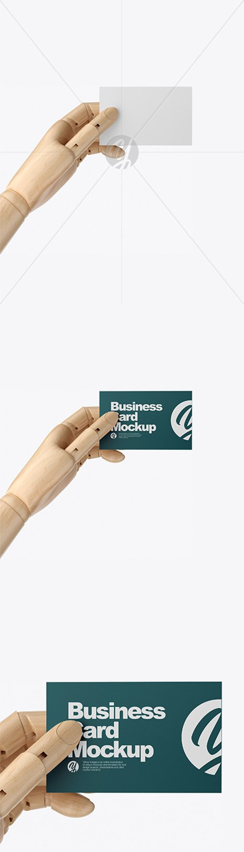 Wooden Hand With Business Card Mockup 60218 TIF