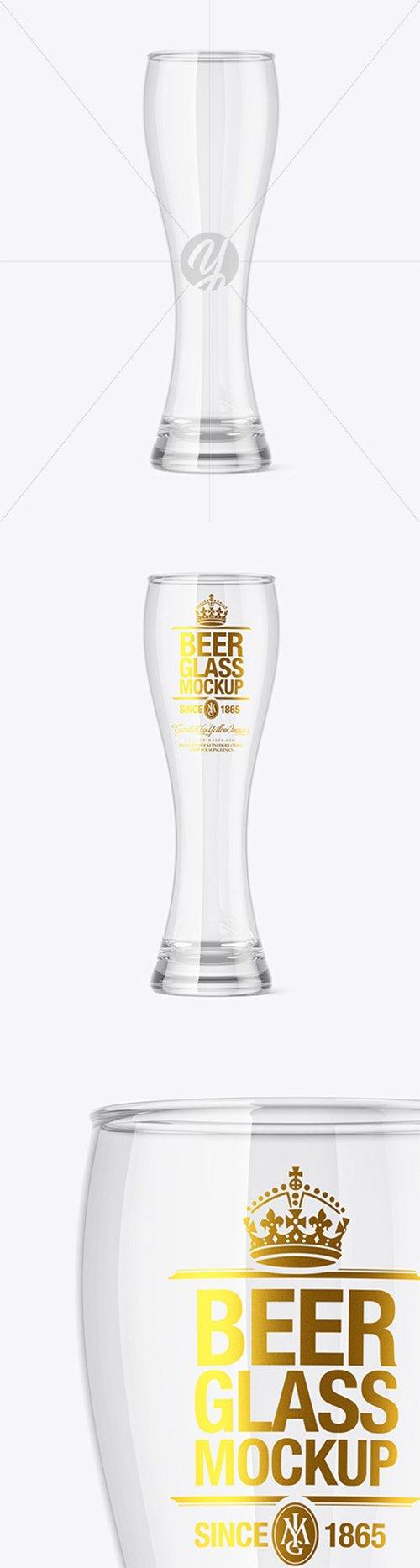 Empty Beer Glass Mockup 60255 TIF