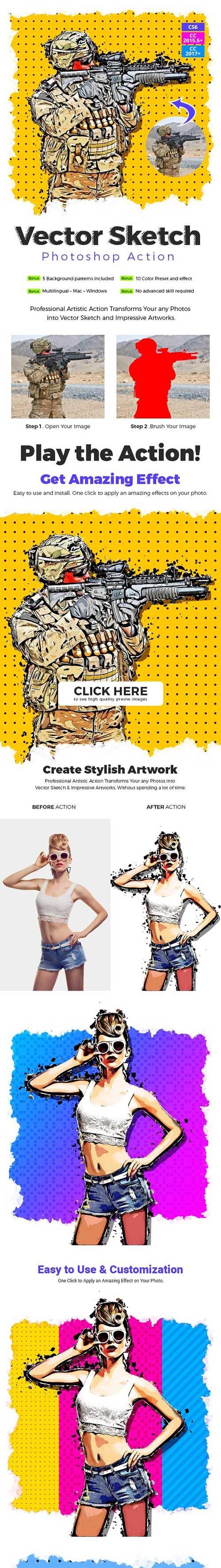 Vector Sketch Photoshop Action 26519972