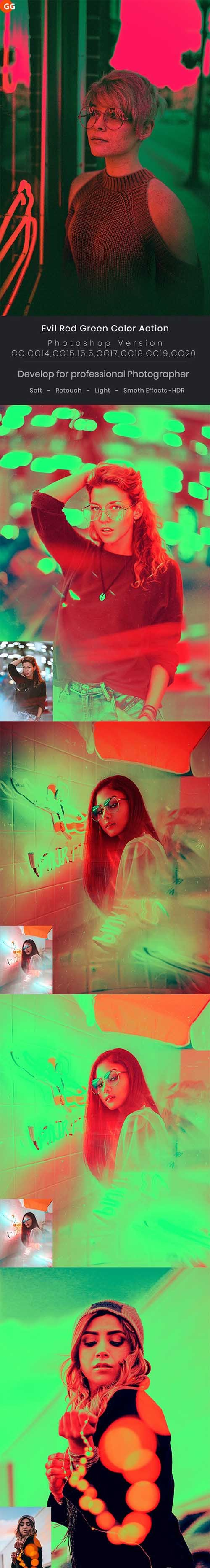 Evil Red Green Color Action 26103151