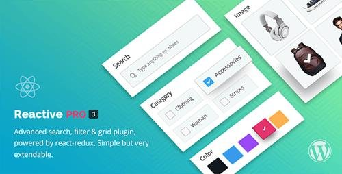 CodeCanyon - Reactive Search Pro v4.0.6.6 - Advanced WordPress Search Filter Map & Grid - 17425763