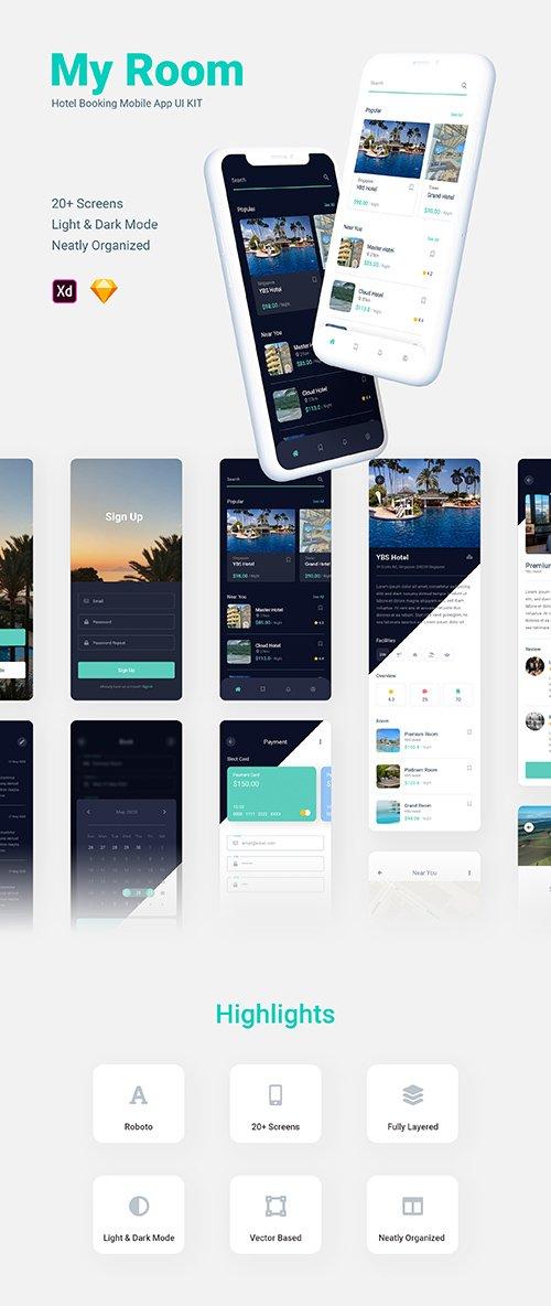 My Room - Hotel Booking Mobile App UI KIT
