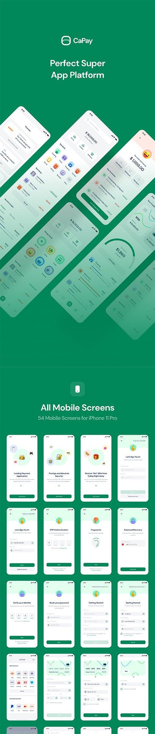 CaPay Wallet iOS UI Kit