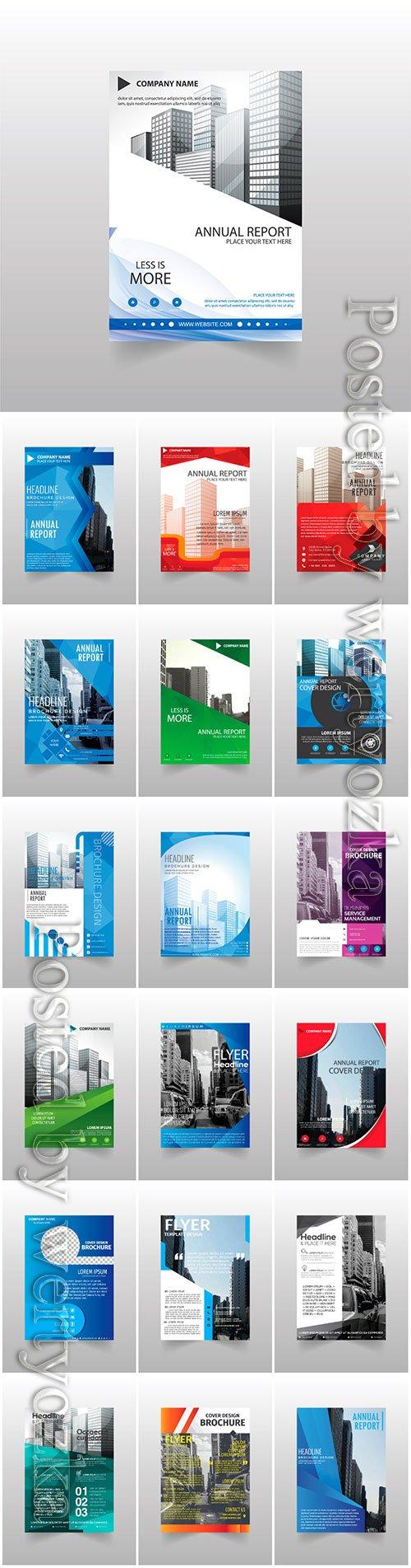 Vector brochures, flyer templates