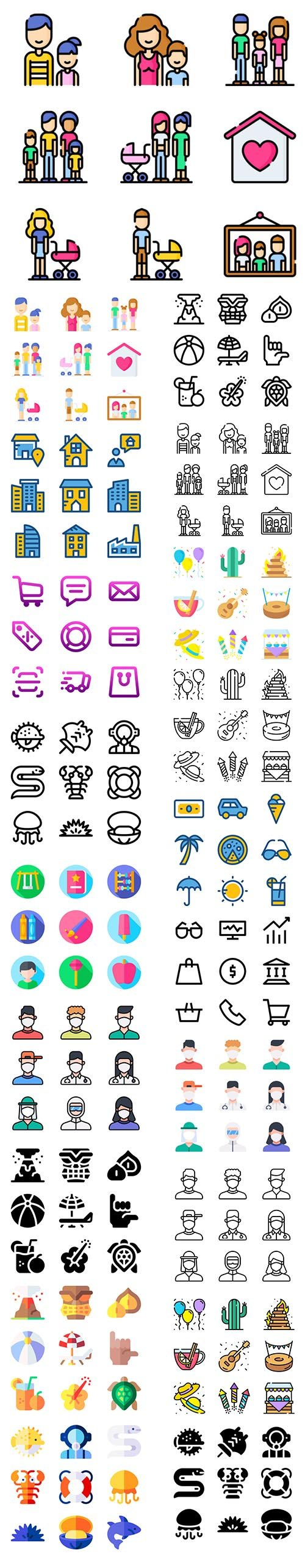 Big Icons Various Pack - More 800 Icons!