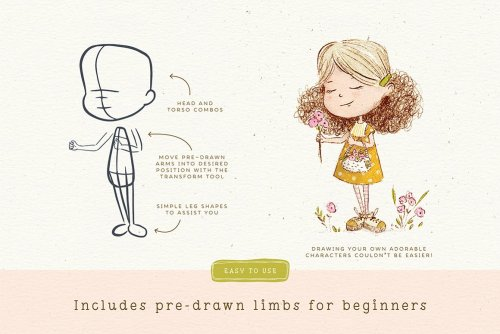 CreativeMarket - Procreate People Drawing Toolkit 4939186