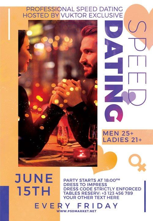 Speed dating night - Premium flyer psd template