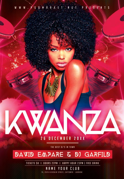 Kwanza fest - Premium flyer psd template