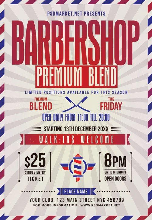 Barbershop - Premium flyer psd template