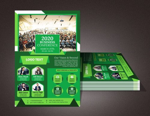 CreativeMarket - Business Conference Flyer 4629081