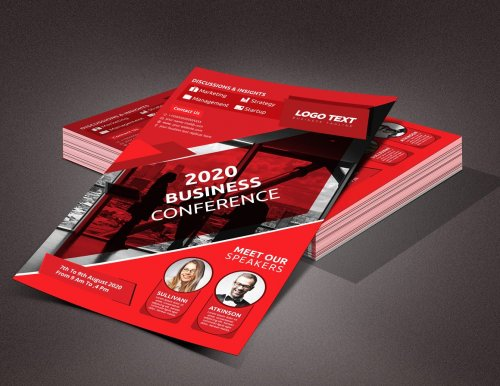 CreativeMarket - Business conference flyer 4629002