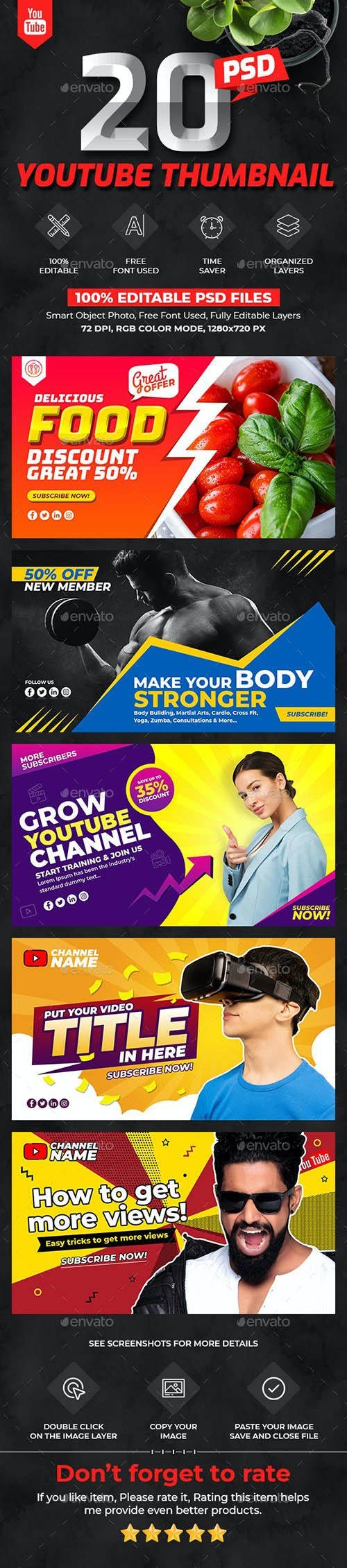 GraphicRiver - Youtube Thumbnail Templates 26526813