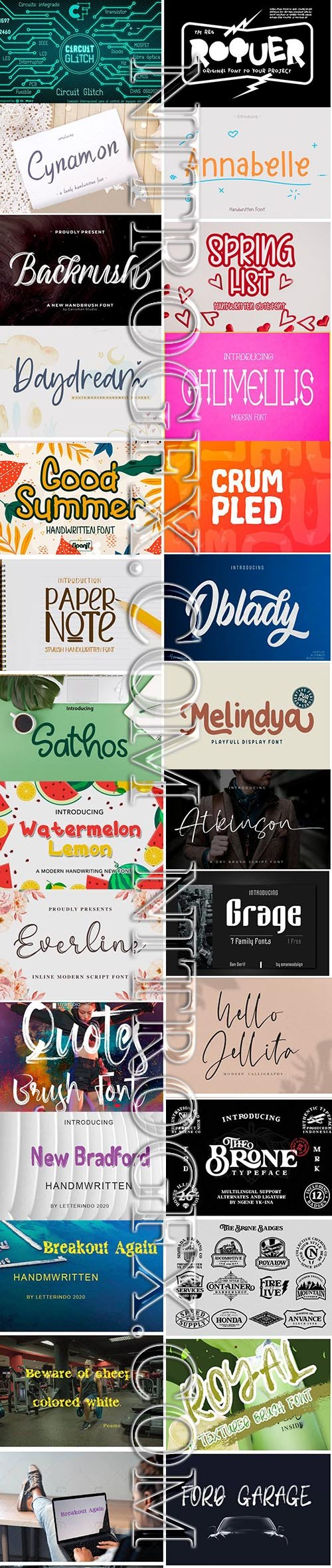 24 Amazing Fresh Modern Fonts in 1 Pack!