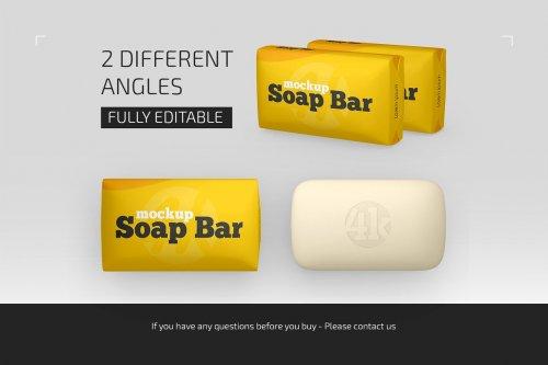 CreativeMarket - Matte Soap Bar Package Mockup Set 5009179