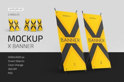 CreativeMarket - X Banner Mockup Set 5003133