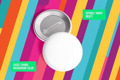 CreativeMarket - Glossy Circle Button Pin Badge Mockup Set 5000076