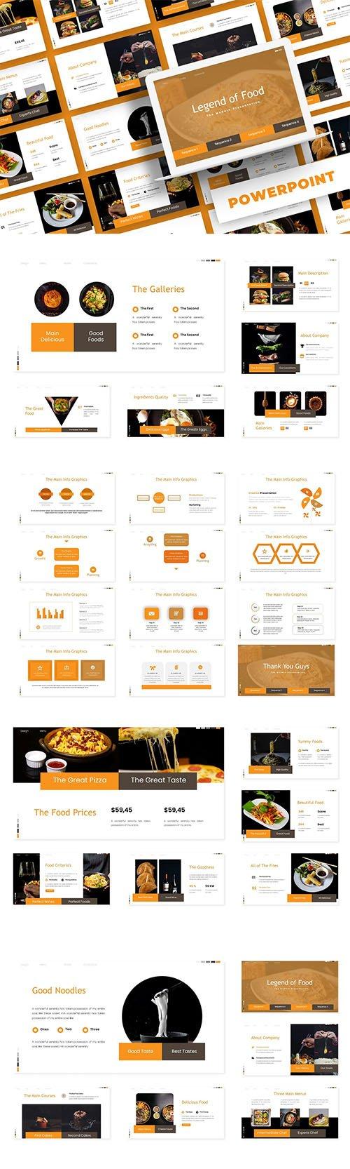 Legend Of Food - PowerPoint, Keynote, Google Slides Templates