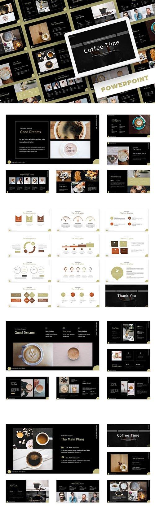 Coffee Time - PowerPoint, Keynote, Google Slides Templates