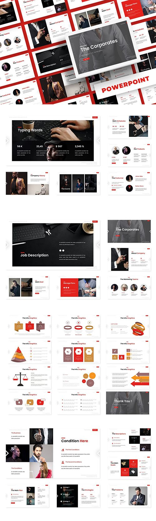 The Corporate - PowerPoint, Keynote, Google Slides Templates