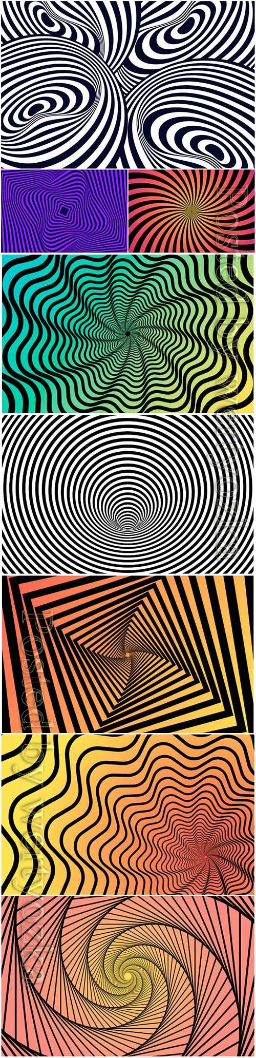 Vector wallpaper psychedelic optical illusion