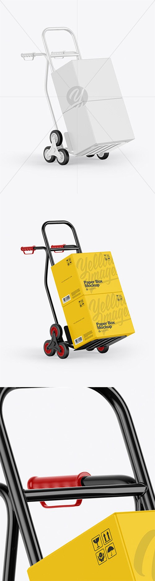 Hand Truck With Boxes Mockup 58380 TIF