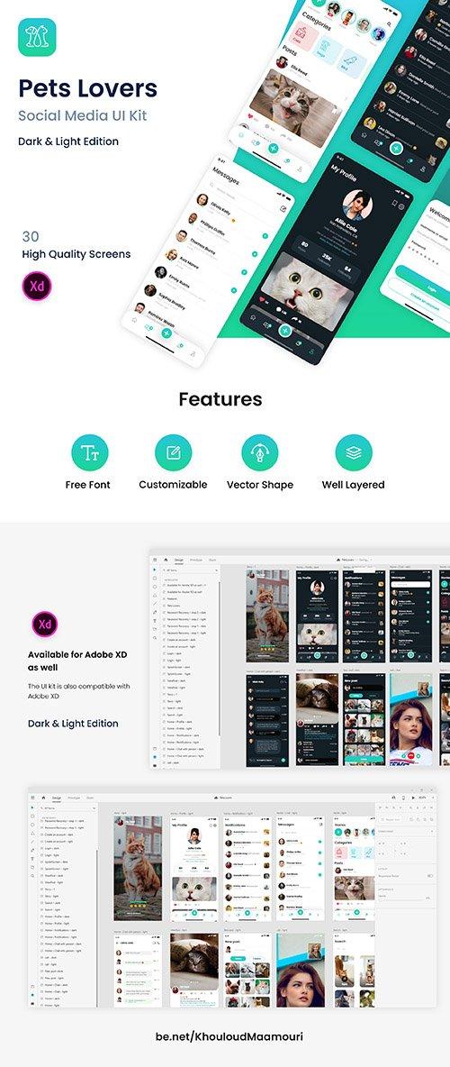 PetsLovers - Social Media app UI Kit