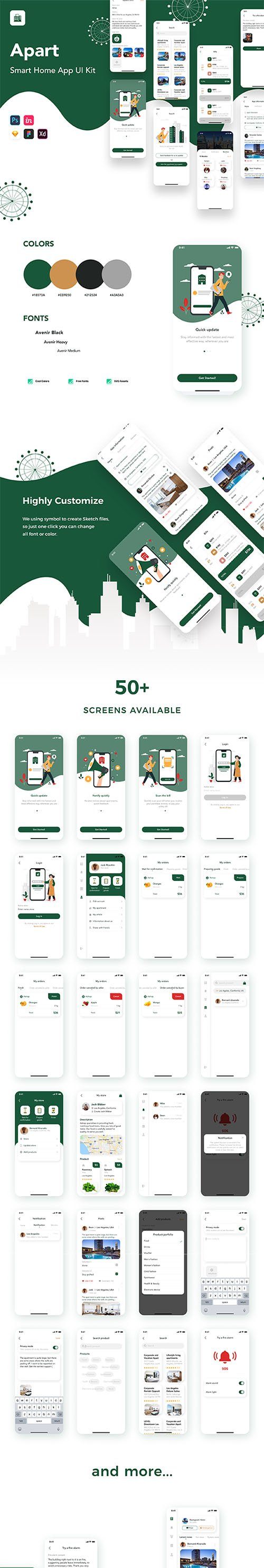 Apart - Smart Home App UI Kit