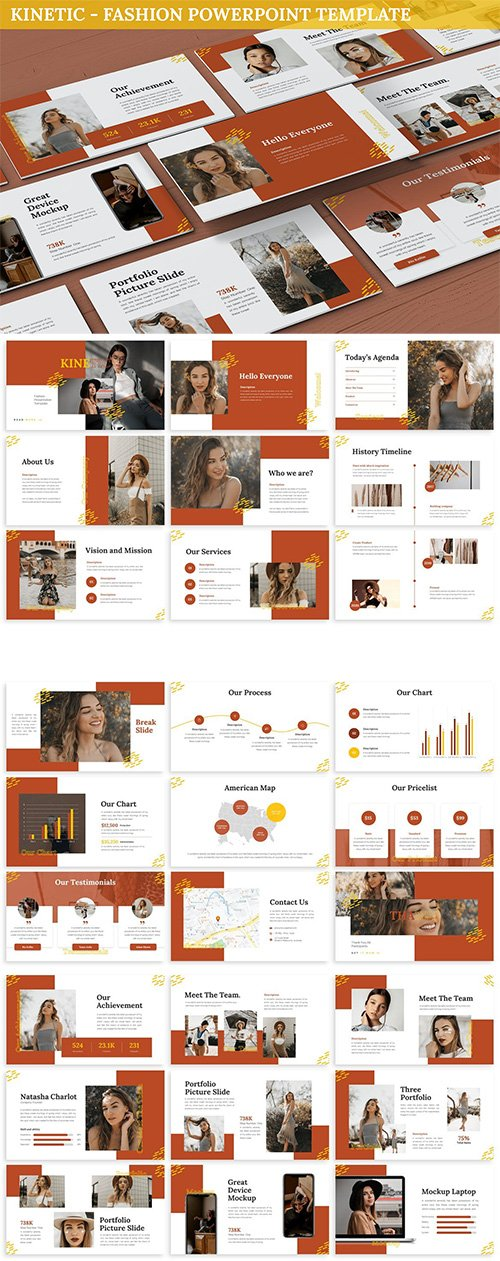 Kinetic - Fashion Powerpoint Template