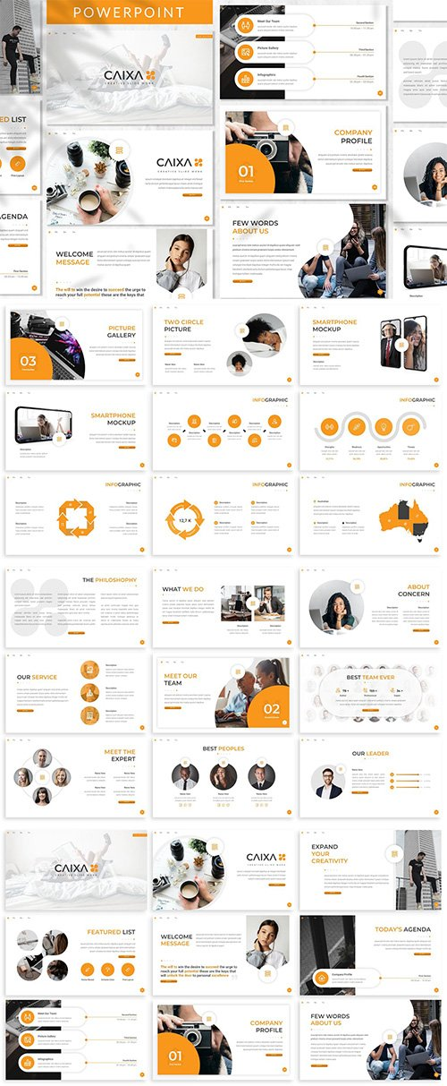 Caixa - Business PowerPoint, Keynote, Google Slides Templates