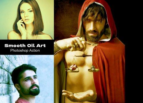 CreativeMarket - Smooth Oil Art Photoshop Action 4934479