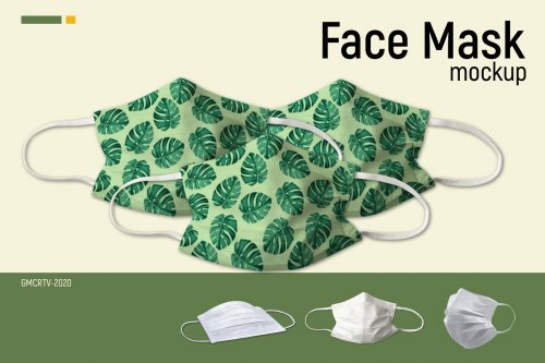 CreativeMarket - Face Mask Mockup Vr2 5003958