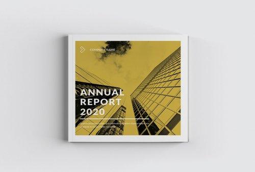 CreativeMarket - Yellow Square Annual Report 5018238