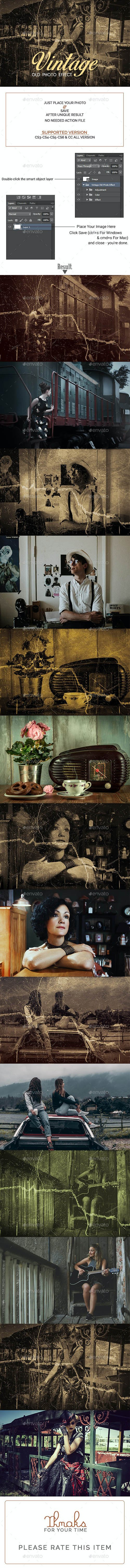 GraphicRiver - Vintage Old Photo Effect 26613892